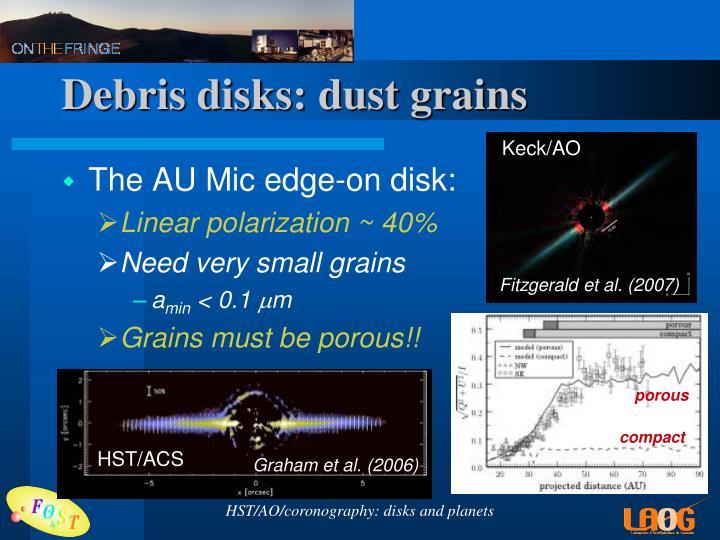 Debris disks: dust grains