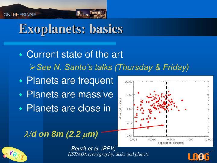 Exoplanets: basics