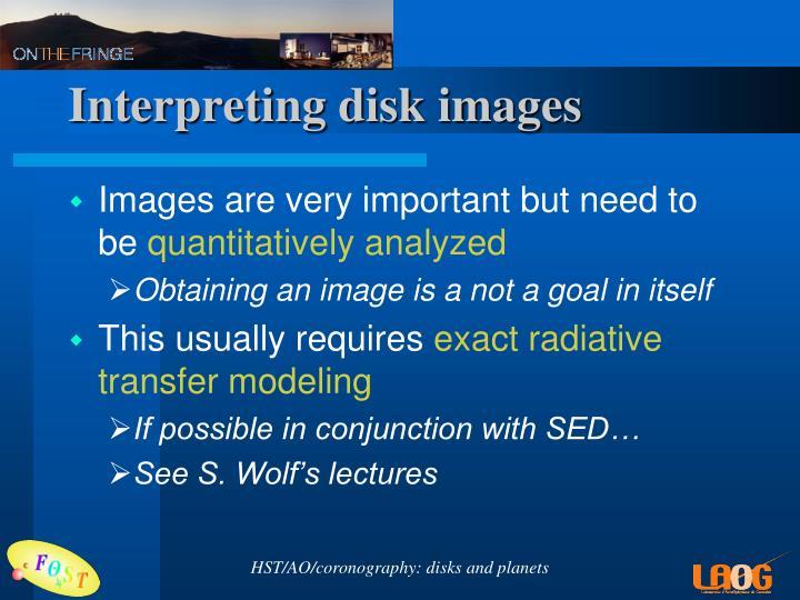 Interpreting disk images