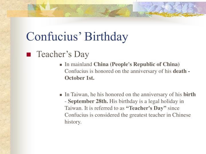 Confucius' Birthday