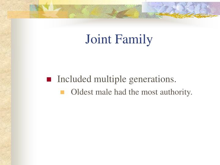 Joint Family