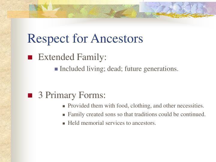 Respect for Ancestors