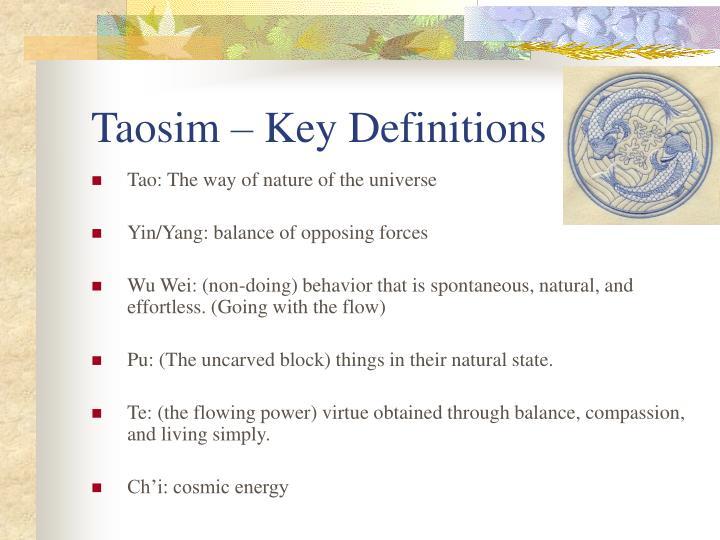 Taosim – Key Definitions