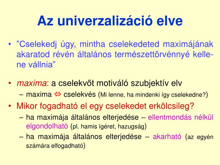 Az univerzalizáció elve