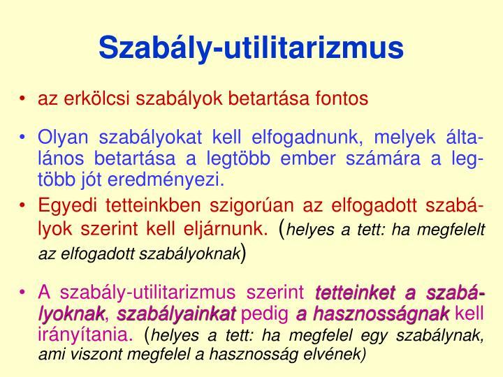 Szabály-utilitarizmus