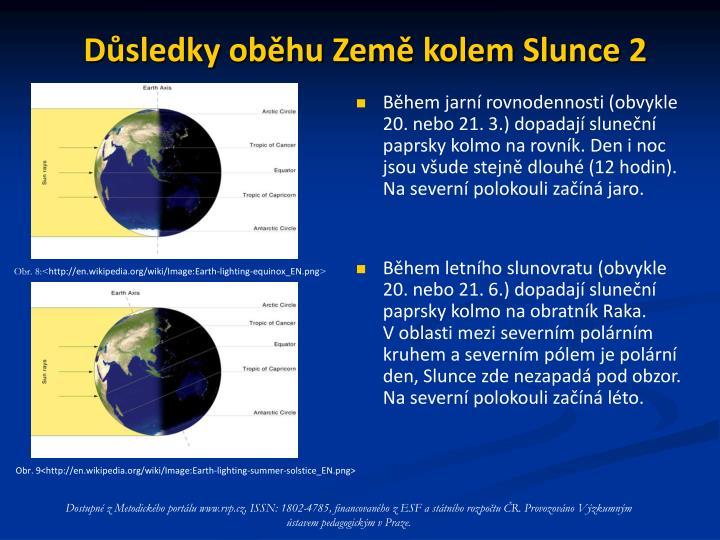 Důsledky oběhu Země kolem Slunce 2