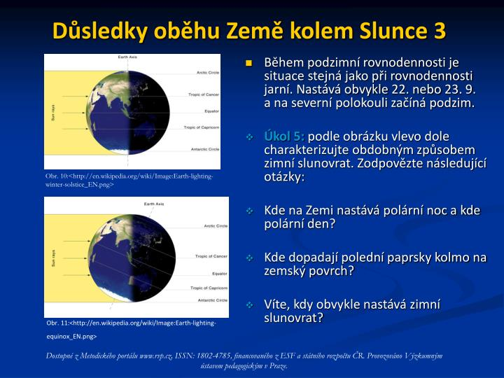 Důsledky oběhu Země kolem Slunce 3