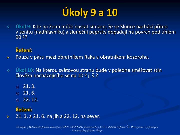 Úkoly 9 a 10