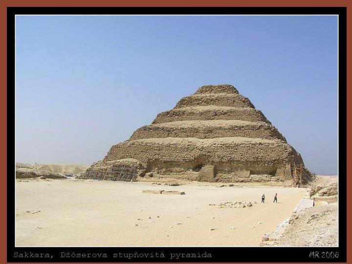 Nákres Džoserovy pyramidy