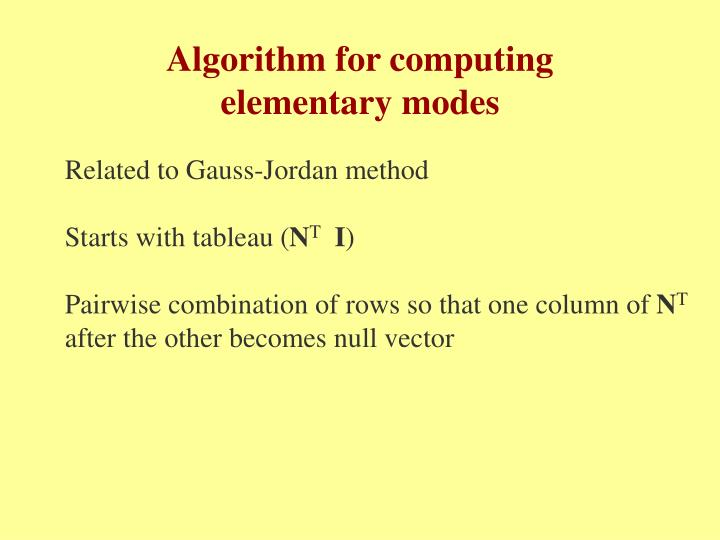 Algorithm for computing