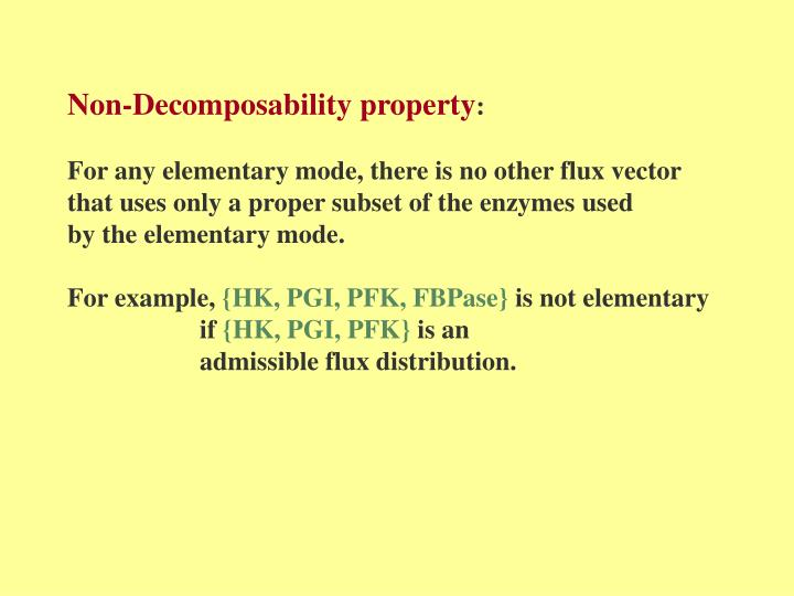 Non-Decomposability property