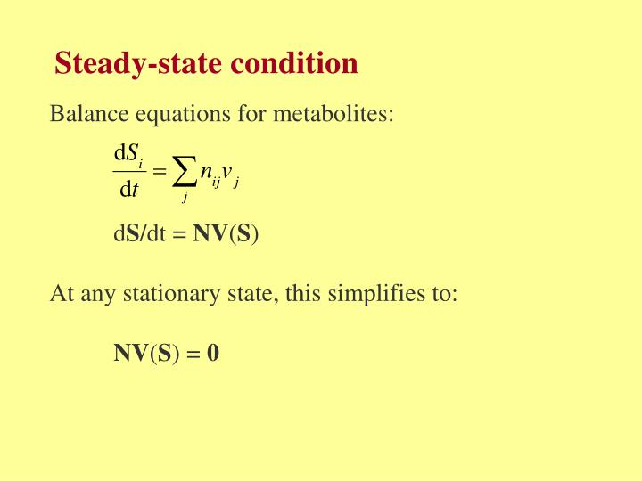 Steady-state condition