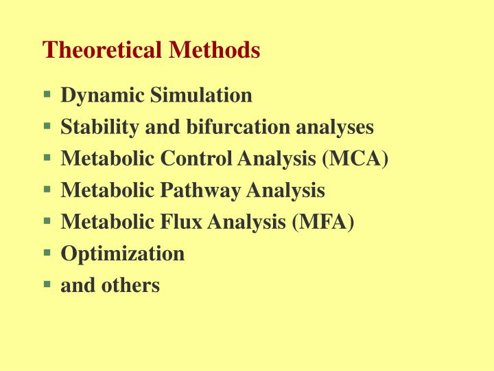 Theoretical Methods
