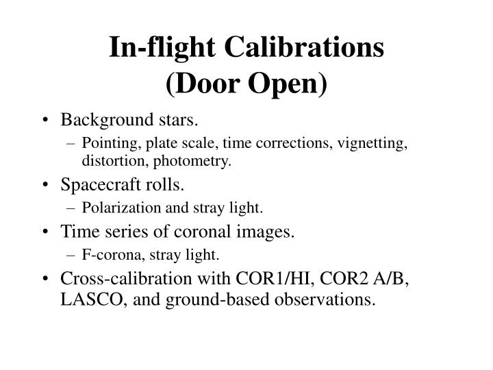 In-flight Calibrations