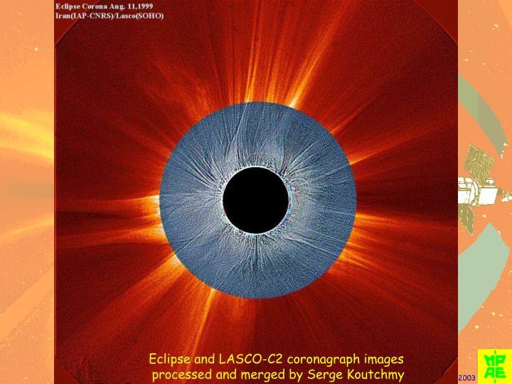 Eclipse and LASCO-C2 coronagraph images