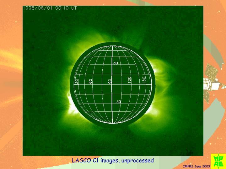 LASCO C1 images, unprocessed