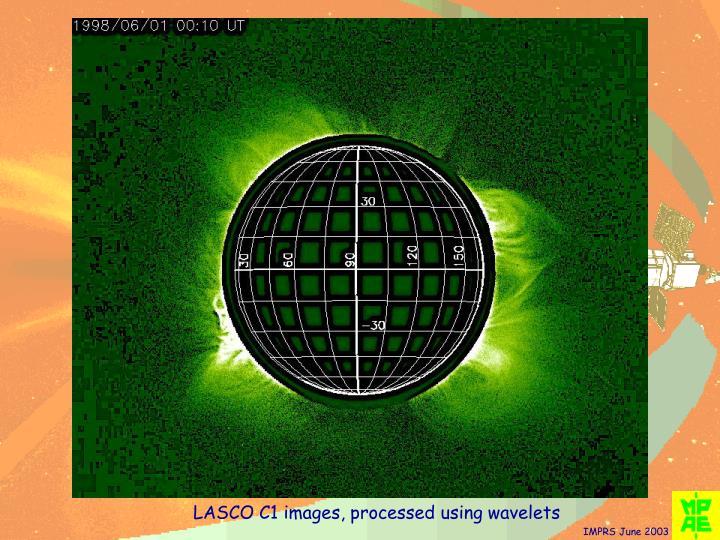 LASCO C1 images, processed using wavelets