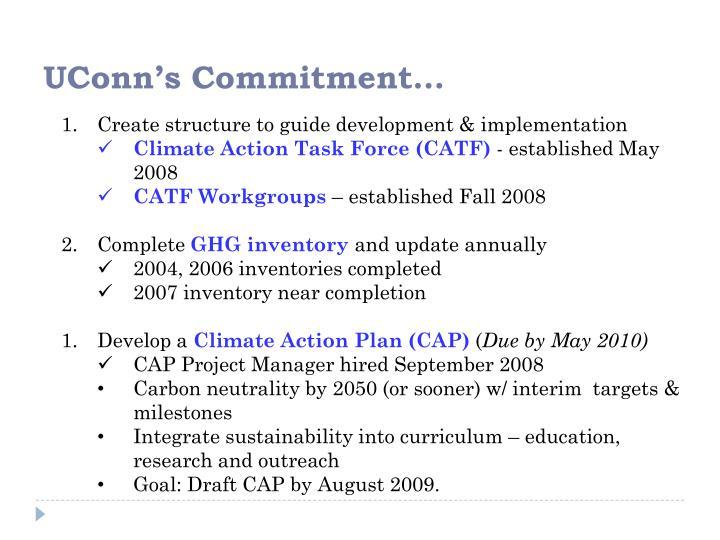 UConn's Commitment…