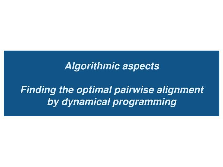 Algorithmic aspects