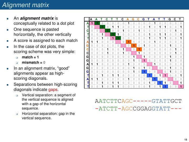 Alignment matrix