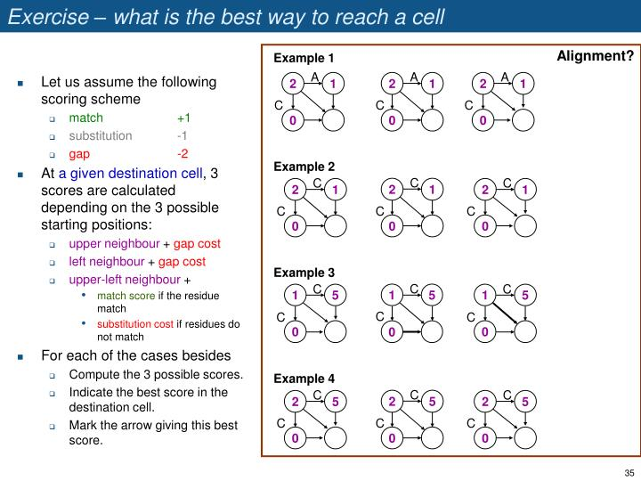 Exercise – what is the best way to reach a cell