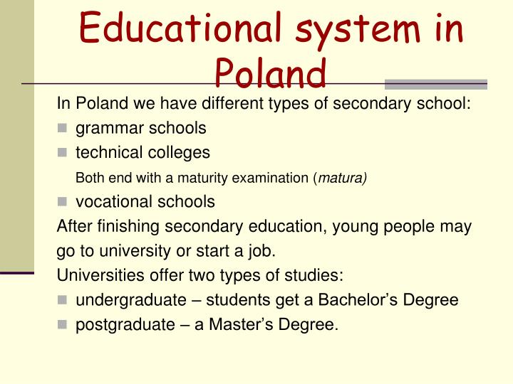 Educational system in Poland