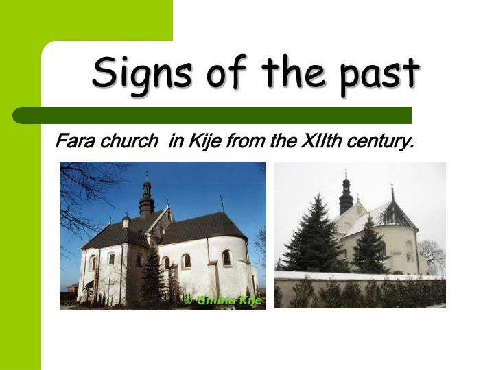 Signs of the past