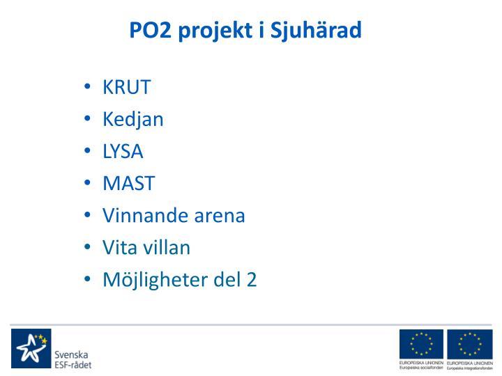 PO2 projekt i Sjuhärad