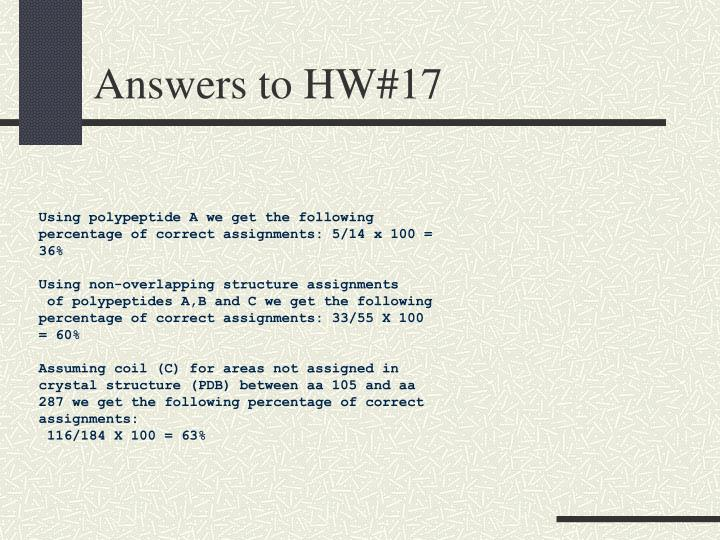 Answers to HW#17
