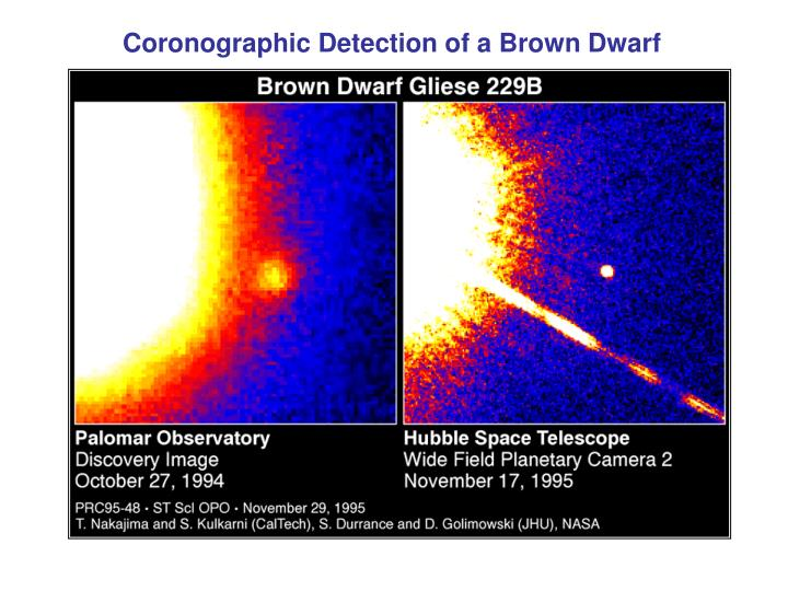 Coronographic Detection of a Brown Dwarf