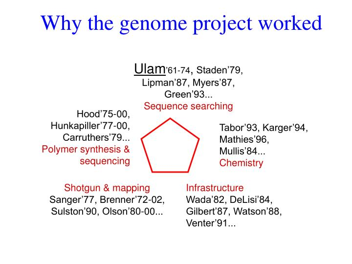 Why the genome project worked