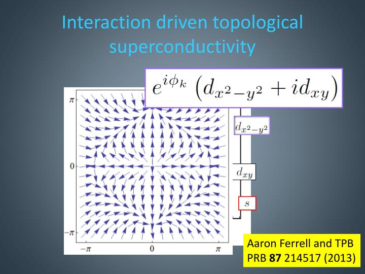Interaction driven topological superconductivity