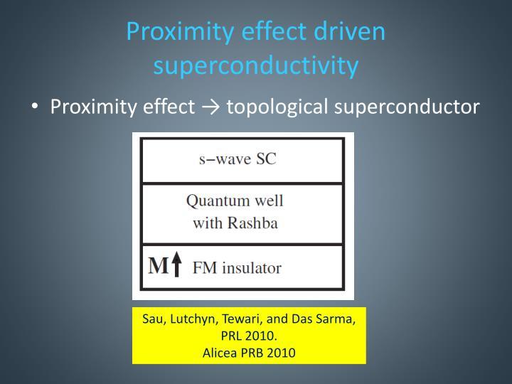 Proximity effect driven superconductivity