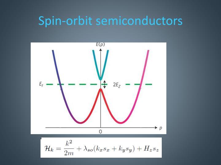 Spin-orbit semiconductors