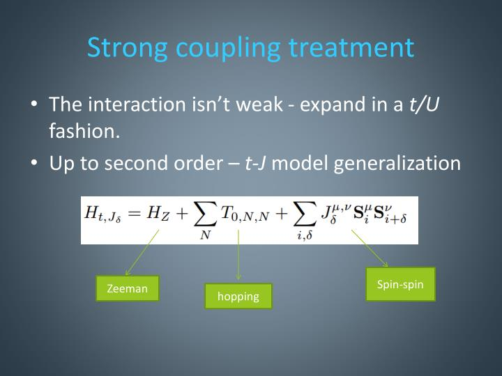 Strong coupling treatment
