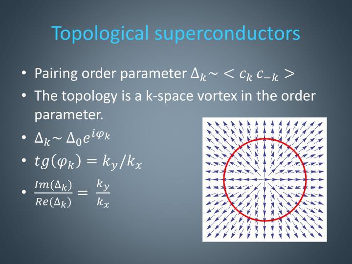Topological superconductors