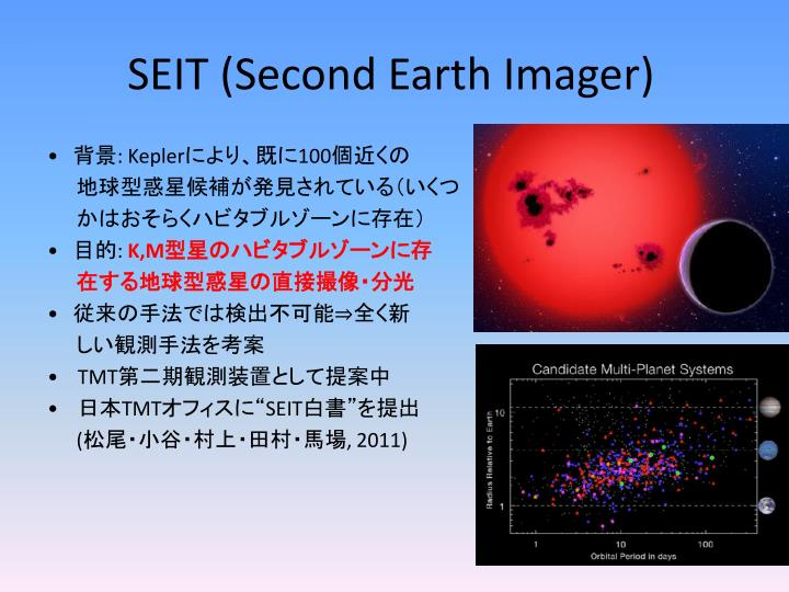 SEIT (Second Earth Imager)