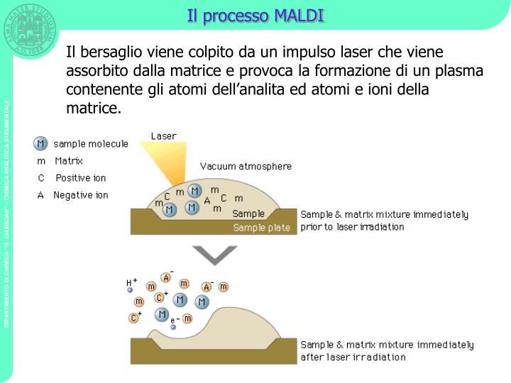 Il processo MALDI