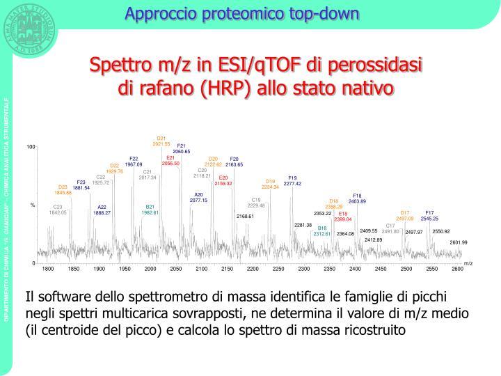 Approccio proteomico top-down