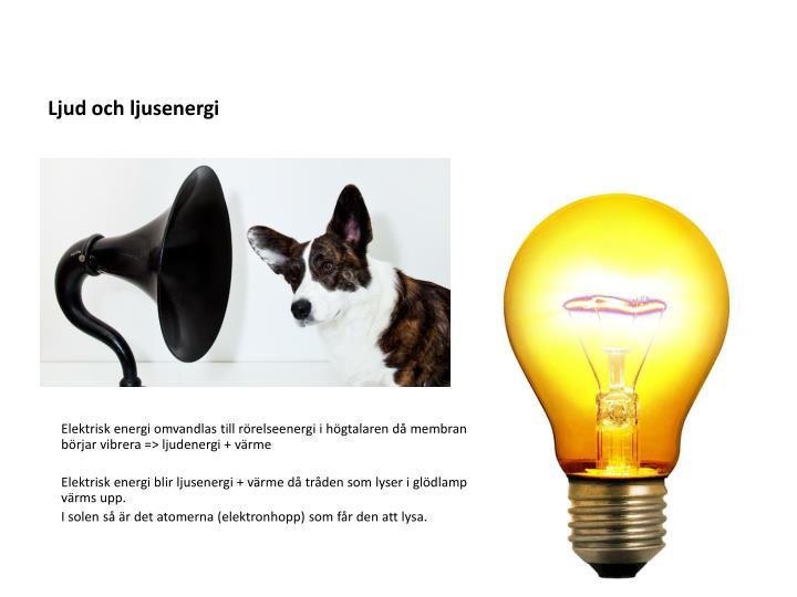 Ljud och ljusenergi