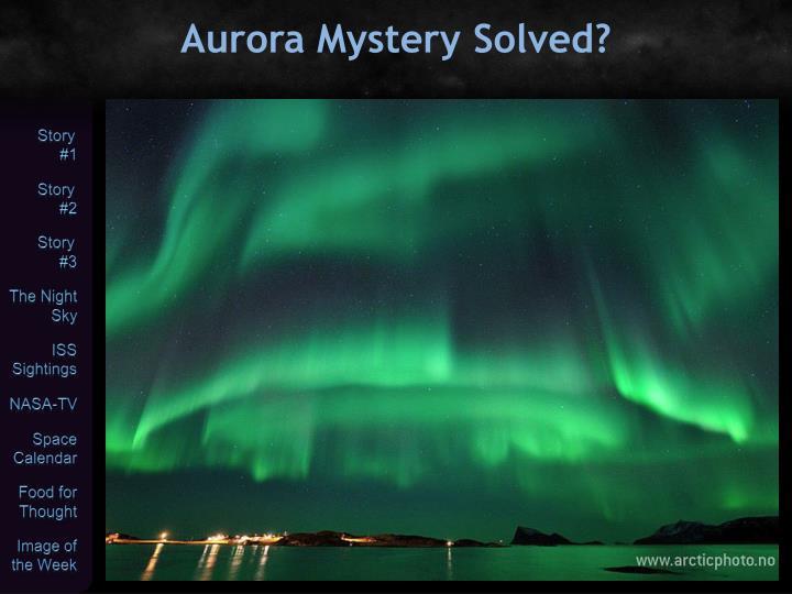Aurora Mystery Solved?