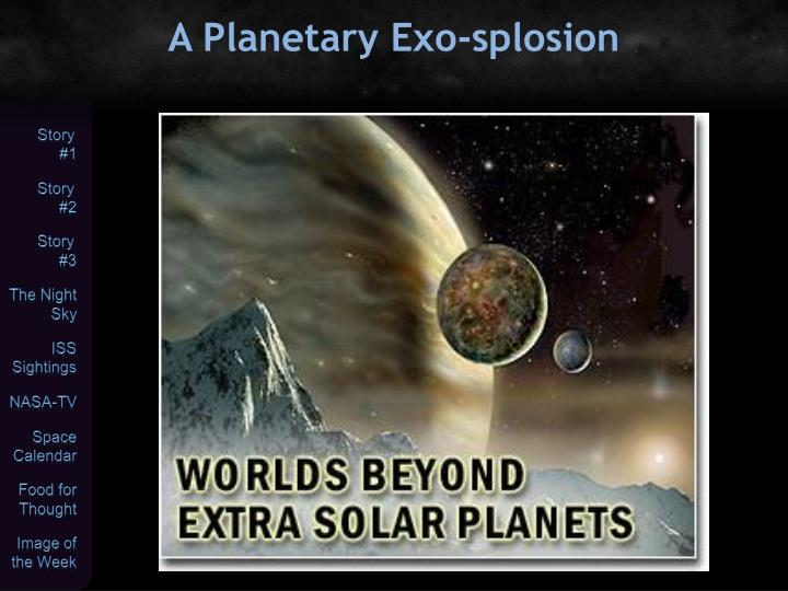 A Planetary Exo-splosion