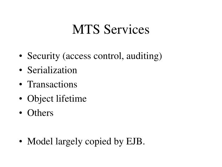 MTS Services