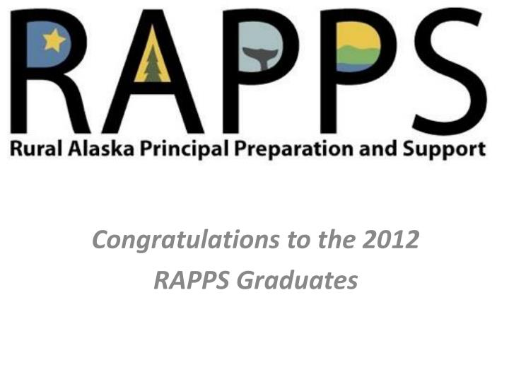 Congratulations to the 2012