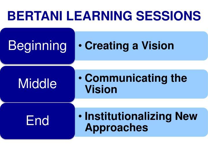 BERTANI LEARNING SESSIONS