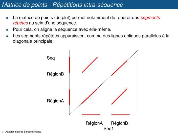 Matrice de points - Répétitions intra-séquence