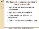 development of teaching materials and course structure 2