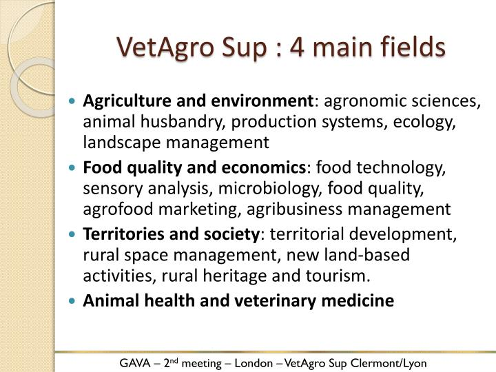 VetAgro Sup : 4 main