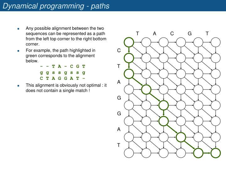 Dynamical programming - paths