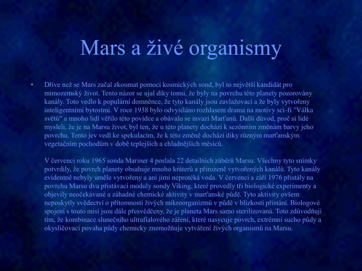 Mars a živé organismy